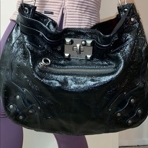 Juicy Couture Black Patent Leather Bag